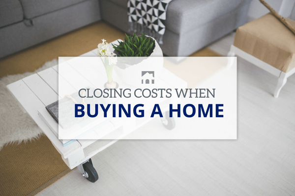 Text over image of coffee table with plant | Closing Costs When Buying a Home