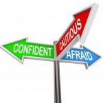 cautious confident afraid