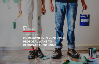 Homeowners in consumer proposal want to renovate their home
