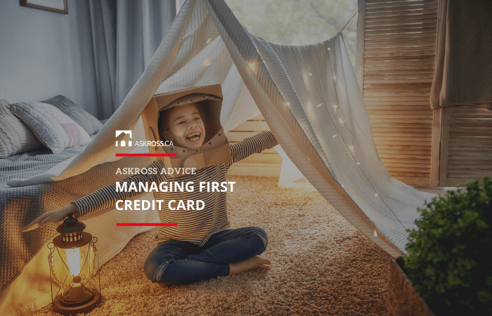 Managing first credit card