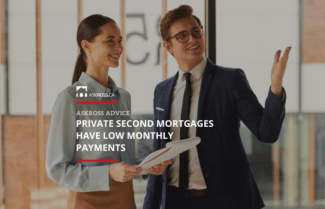 Private Second Mortgages Have Low Monthly Payments