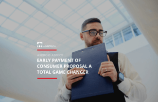 Early Payment of Consumer Proposal a Total Game Changer