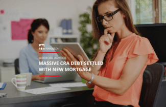 Massive CRA Debt Settled with New Mortgage